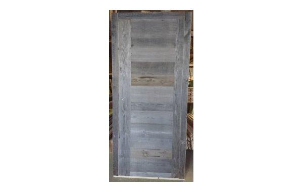 Porte d'intérieur Abondance 2 montants vieux bois gris