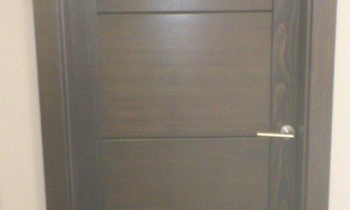 cadre faux cadre et porte d'intérieur Talloires 4 panneaux en épicéa