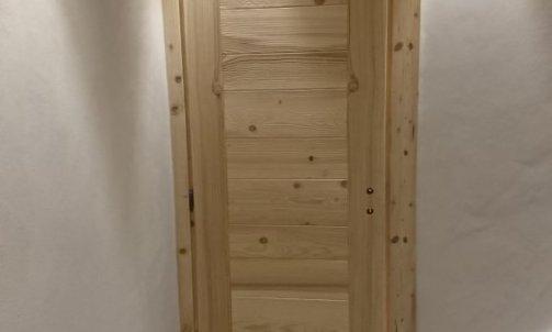 cadre faux cadre et porte d'intérieur Manigod en chablis brossé