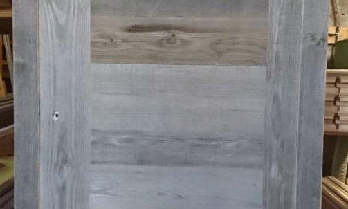 cadre faux cadre +porte d'intérieur Abondance 2 montants en vieux bois gris
